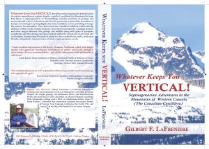 Book cover for Whatever Keeps You Vertical! by Gilbert F. LaFreniere.